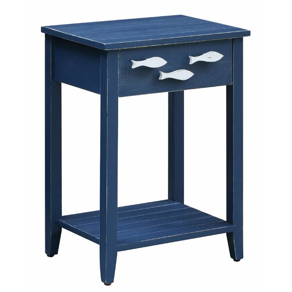 Harr Nautical End Table with Storage by Highland Dunes