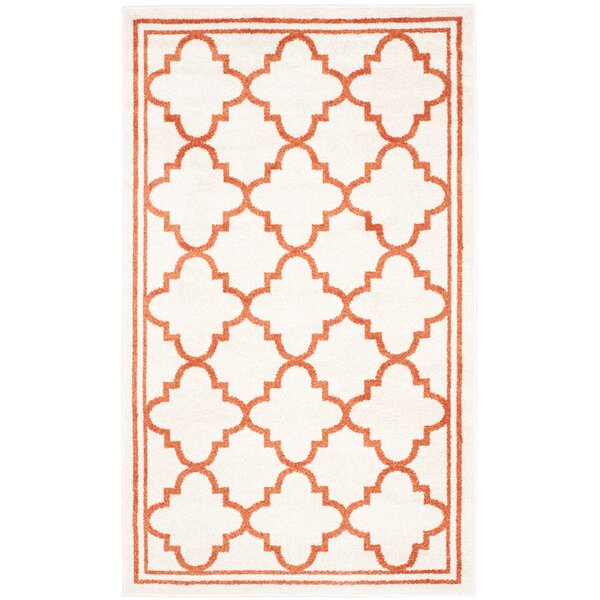 Maritza Beige/Orange Indoor/Outdoor Area Rug by Willa Arlo Interiors