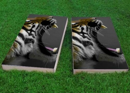 Crouching Tiger Cornhole Game (Set of 2) by Custom Cornhole Boards
