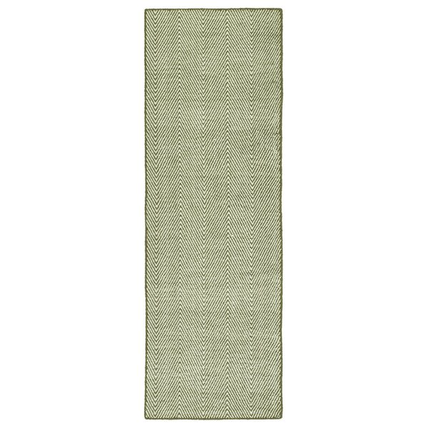 Buell Hand Woven Olive Indoor/Outdoor Area Rug by Ivy Bronx