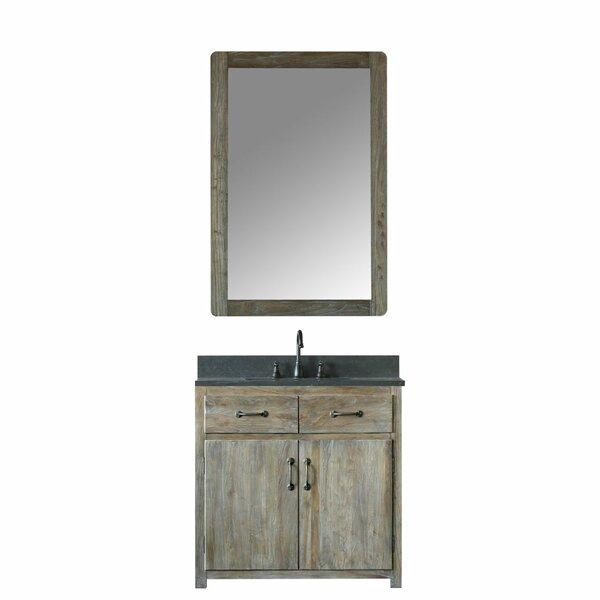 Alamo 36 Single Bathroom Vanity Set with Mirror by Laurel Foundry Modern Farmhouse