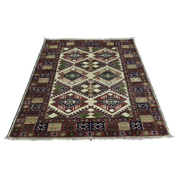 One-of-a-Kind Graybill Hand-Knotted Wool Brown/Yellow Area Rug by Bloomsbury Market