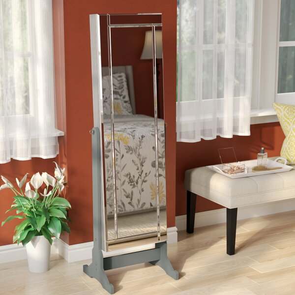 Brechin Free standing Jewelry Armoire with Mirror by Alcott Hill