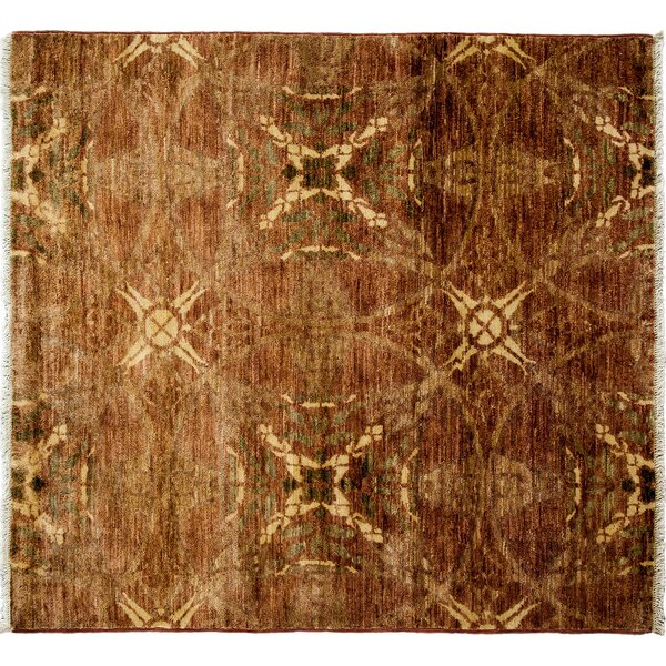 One-of-a-Kind Oushak Hand-Knotted Brown Area Rug by Darya Rugs