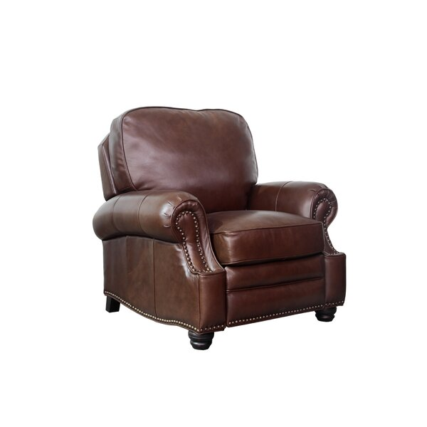 Merriwood Leather Manual Recliner by Darby Home Co