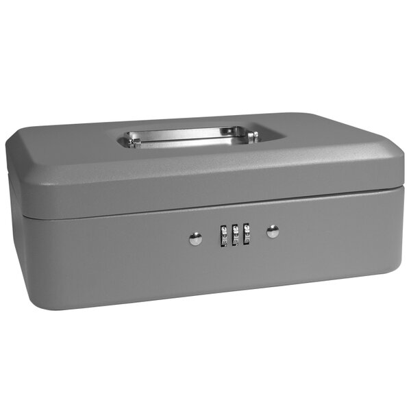 Medium Gray Cash Box with Combination Lock by Barska