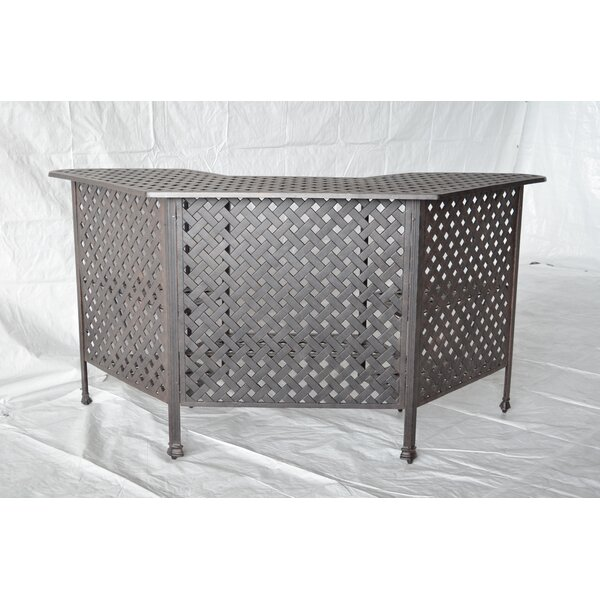 Nola Metal Bar Table by Darby Home Co Darby Home Co