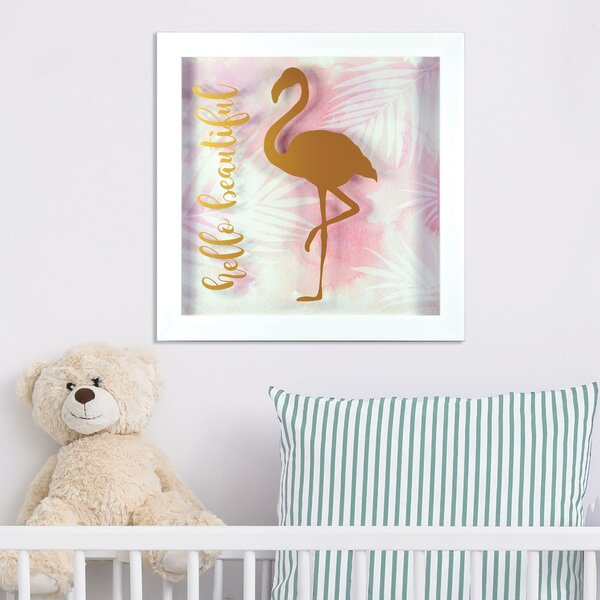 Silas Hello Beautiful Framed Paper Print by Harriet Bee