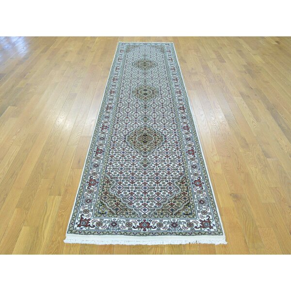One-of-a-Kind Benjamin Mahi Handwoven Ivory Wool/Silk Area Rug by Isabelline