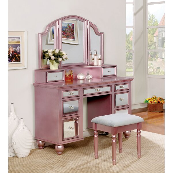 Anita Vanity Set with Mirror by Rosdorf Park