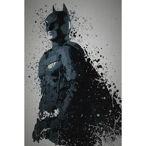 'Pop Culture Splatter Series: Dark Knight' Graphic Art Print on Wrapped Canvas by East Urban Home
