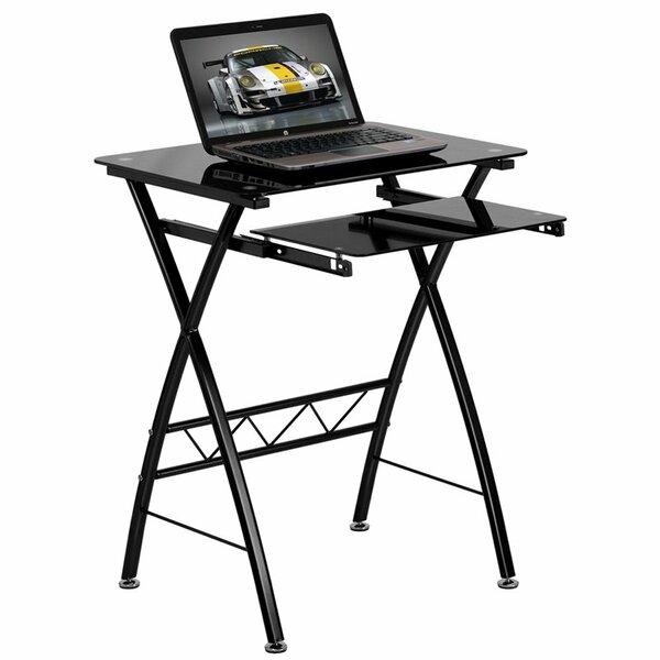Krupa Tempered Glass Computer Desk by Symple Stuff