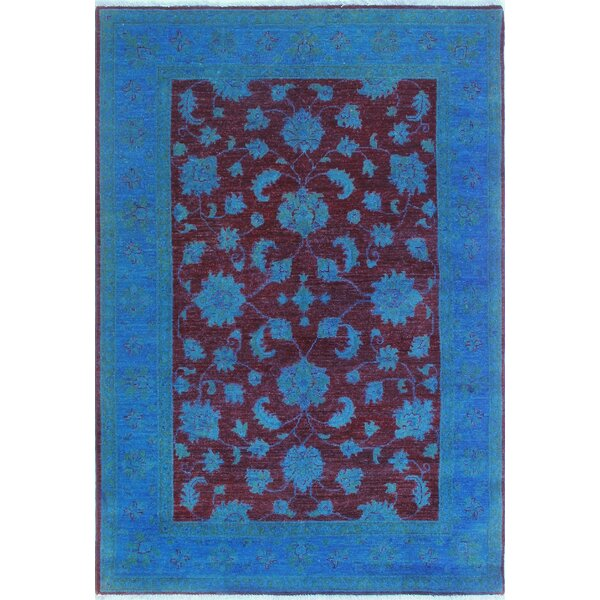 Blakeslee Traditional Hand Knotted Wool Blue Area Rug by Bloomsbury Market