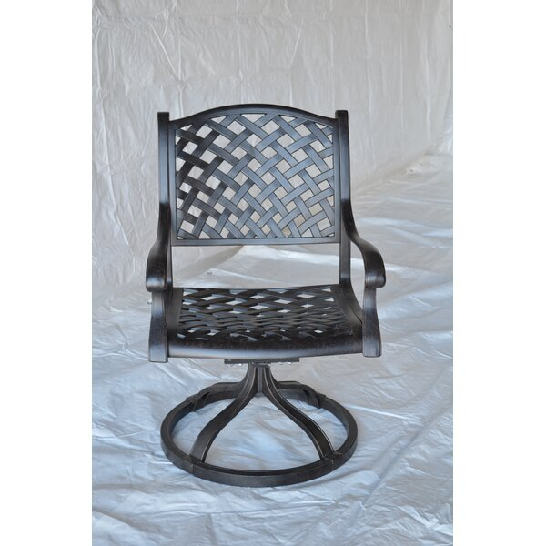 Nola Swivel Patio Dining Chair by Darby Home Co