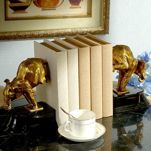 Decorative Unique Bull Bookend (Set of 2) by Westmen Lights