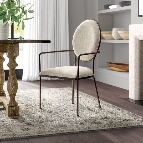 Cairo Oval Back Upholstered Dining Chair by Greyleigh
