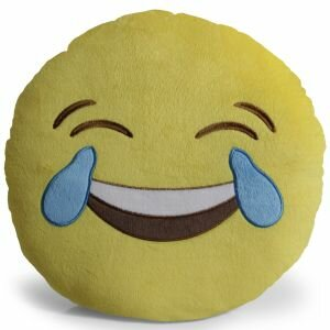 Emoji Joy Pillow Throw Pillow by OxGord