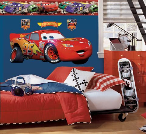 Disney Cars Lightning McQueen Room Makeover Wall Decal by Wallhogs