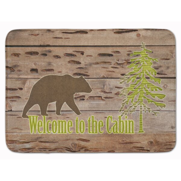 Welcome to the Cabin Memory Foam Bath Rug by East Urban Home