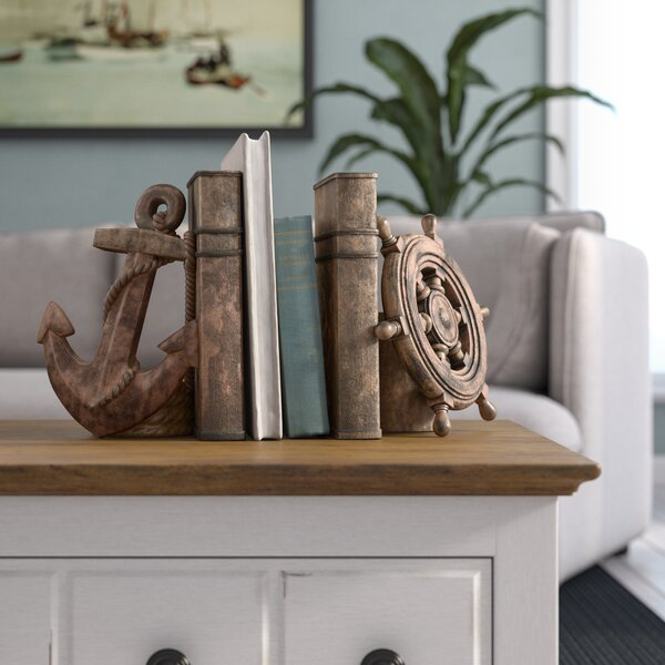 Polystone Decorative Bookends (Set of 2) by Beachcrest Home