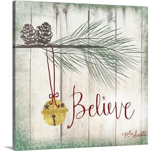 Christmas Art Bells by Katie Doucette Graphic Art on Wrapped Canvas by Great Big Canvas
