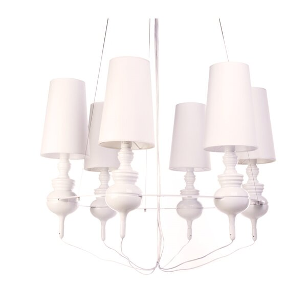 Ceasar 6-Light Shaded Classic / Traditional Chandelier by Mercer41 Mercer41
