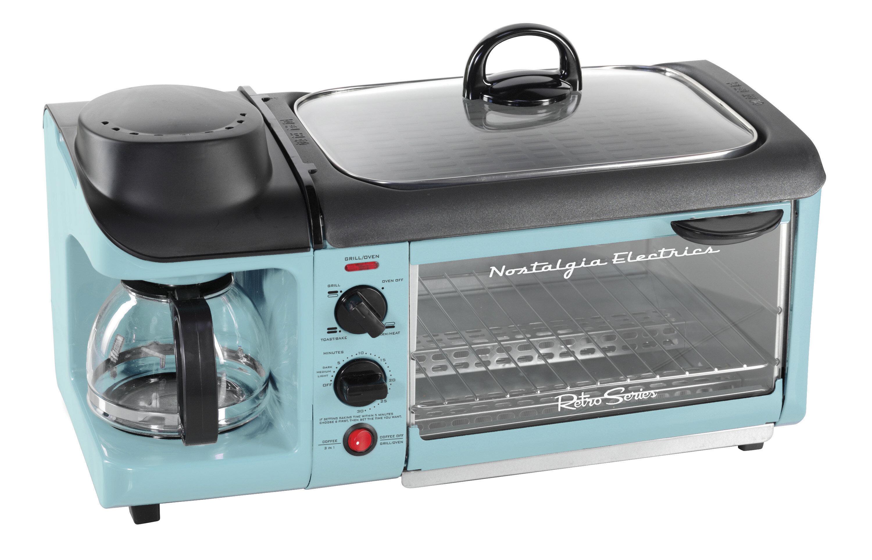 Nostalgia Electrics 4-Cup Retro Series 3-in-1 Breakfast Station ...