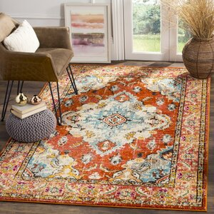 Newburyport Orange Area Rug
