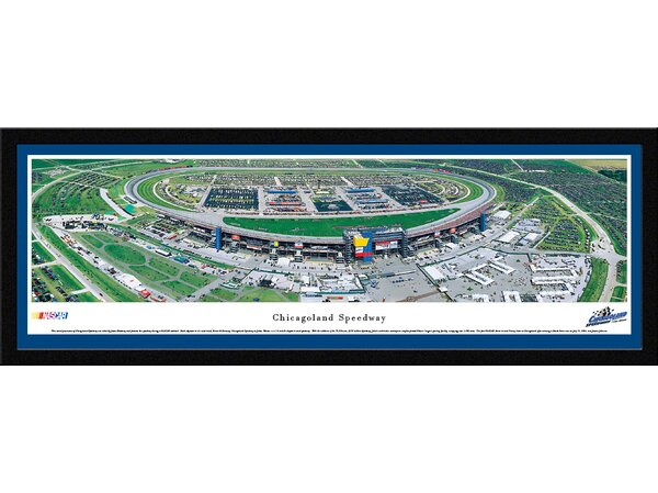 NASCAR Chicagoland Speedway by James Blakeway Framed Photographic Print by Blakeway Worldwide Panoramas, Inc