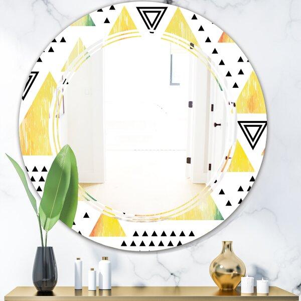Triangular Design IV Triple C Modern & Contemporary Frameless Wall Mirror