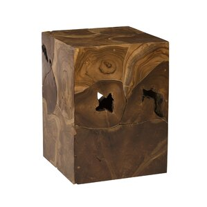 Teak Slice End Table by Phillips Collection