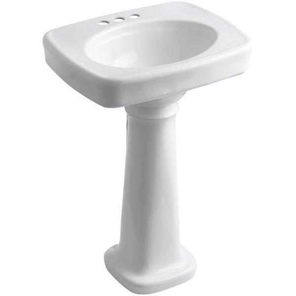 Bancroft® Ceramic 24 Pedestal Bathroom Sink by Kohler