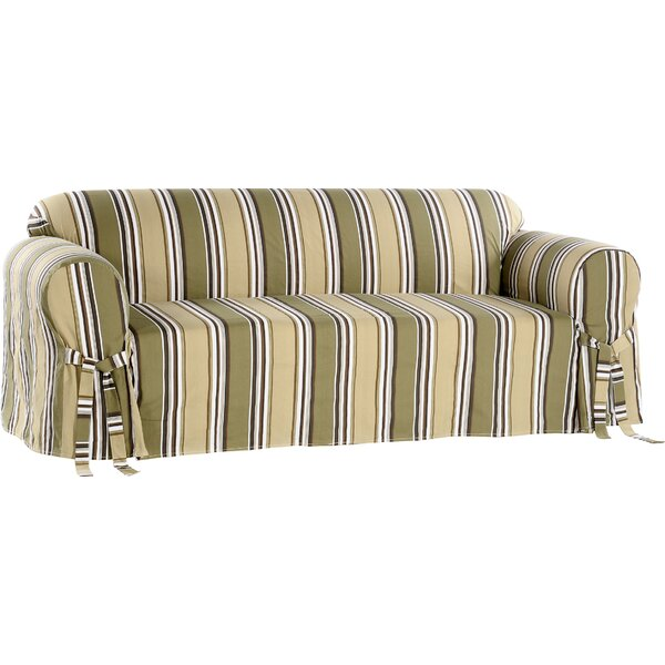 Box Cushion Loveseat Slipcover by Beachcrest Home