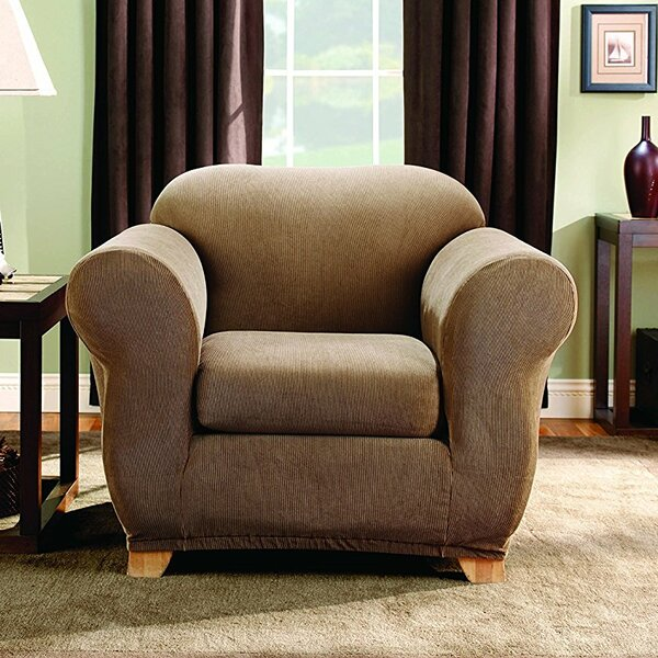 Stretch Stripe Box Cushion Armchair Slipcover By Sure Fit