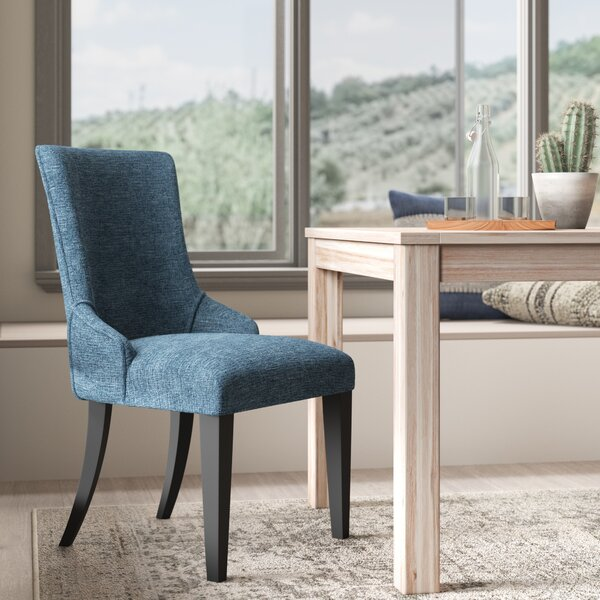 Fincastle Upholstered Dining Chair In Blue (Set Of 2) By Wrought Studio