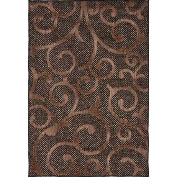 Stedman Chocolate Brown Outdoor Area Rug by Charlton Home