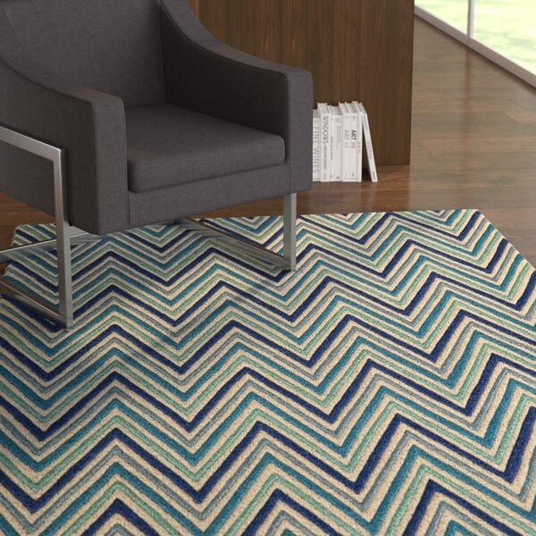 Grace Hand-Tufted Blue Area Rug by Latitude Run