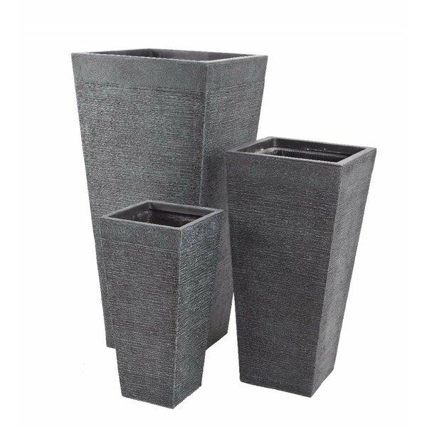 Rectangular 3-Piece Pot Planter Set by Plow & Hearth