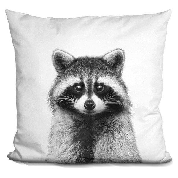 Kelsch Raccoon Throw Pillow by Wrought Studio