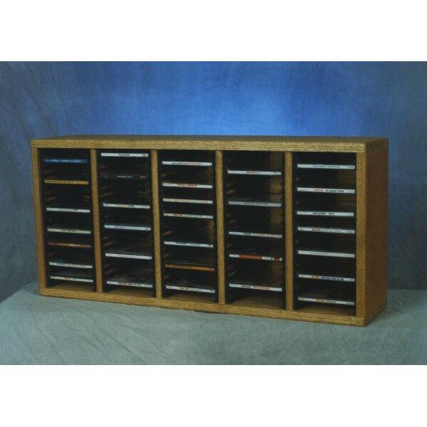 500 Series 100 CD Multimedia Tabletop Storage Rack by Wood Shed