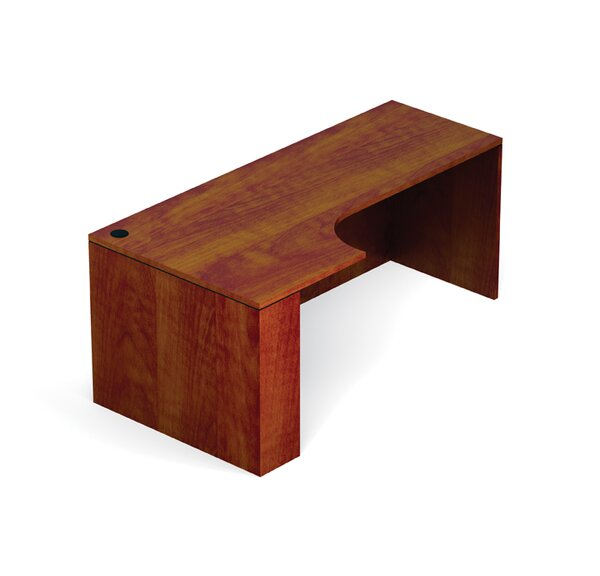 Superior Laminate Desk Shell with Corner Extension by Offices To Go
