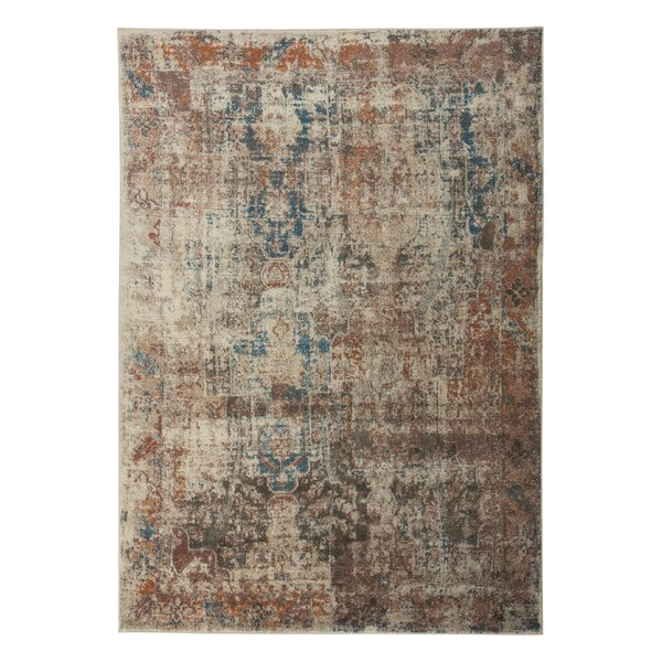 Hedley Rust/Blue Area Rug by Bungalow Rose