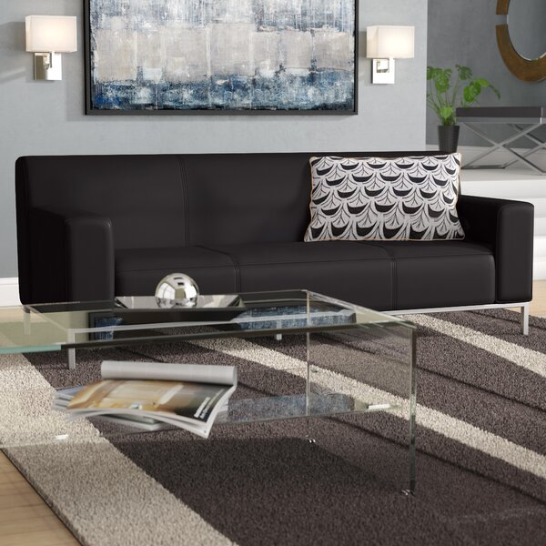 Pyron Contemporary Leather Sofa by Latitude Run