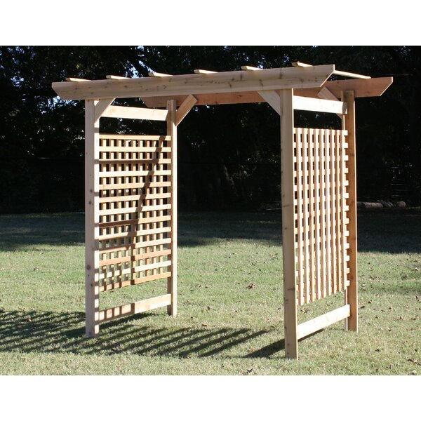 Oversized Lattice Cedar Wood Arbor by Threeman Products