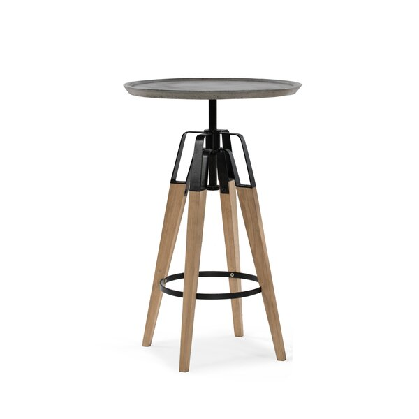 Christine Adjustable Pub Table by 17 Stories