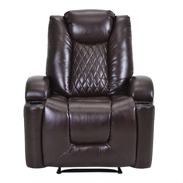 Linnell Faux Leather Power Lift Assist Recliner W003397099