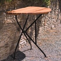 Dowe Folding Half Round Table by August Grove