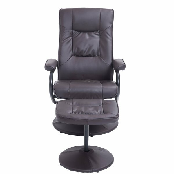 Hacker Ergonomic Manual Swivel Recliner with Ottoman by Winston Porter