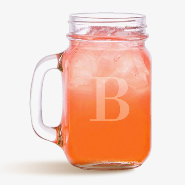 Custom Initial 16 oz. Mason Jar by Monogramonline Inc.