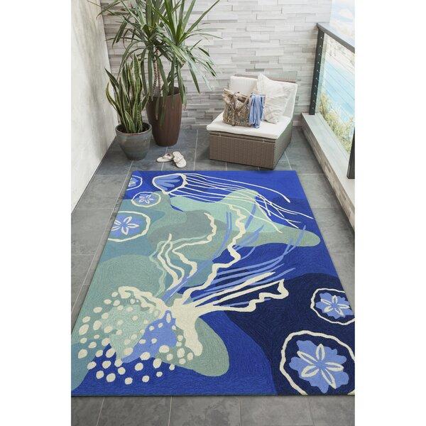 Claycomb Blue Indoor/Outdoor Area Rug